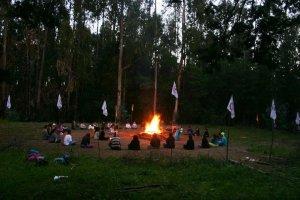 Hermoso inicio Aldea de la Paz en Quebrada Verde- plegaria a las 4 direccíones, meditaciones, agni hotra y el fuego sagrado que quedará prendido por los próximos 50 días!